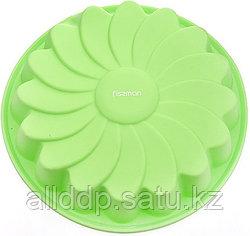 6671 FISSMAN Форма для выпечки РОМАШКА 22x4 см, цвет ЗЕЛЕНЫЙ ЧАЙ (силикон)