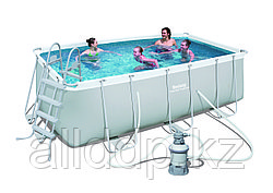 Бассейн каркасный 412х201х122 см, V-8124л, Bestway 56457 с песочным фильтром и лестницей