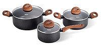 4348 FISSMAN Набор посуды 6 пр. BLACK COSMIC (алюминий с антипригарным покрытием)