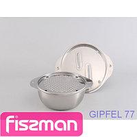 5663 GIPFEL Глубокая миска с набором круглых терок 16 см (нерж. сталь)