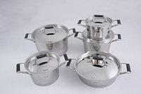 5823 FISSMAN Набор посуды ELARA 10 пр. со стальными крышками (нерж. сталь)