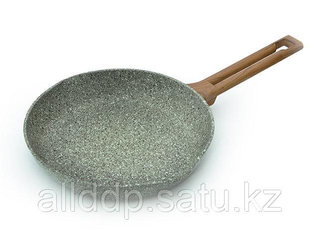 4487 FISSMAN Сковорода для жарки AZURE STONE 24x4,5 см (алюминий с антипригарным покрытием)