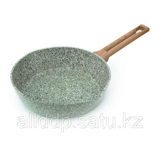 4489 FISSMAN Глубокая сковорода AZURE STONE 24x6,5 см (алюминий с антипригарным покрытием)
