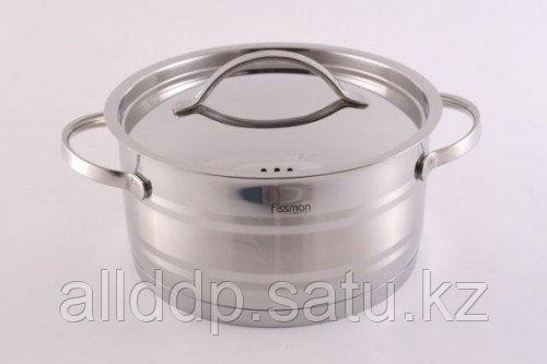 5222 FISSMAN Кастрюля NEO 18x9 см / 2,2 л со стальной крышкой (нерж. сталь)