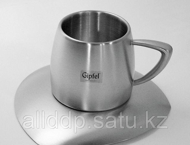 "8526 GIPFEL Чашка с блюдцем 0,25 л ""BARETTI"" (термо)"