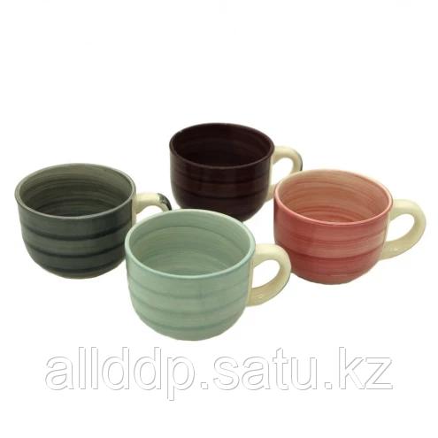 9257 FISSMAN Набор из 4 бульонных чашек 500 мл (керамика)