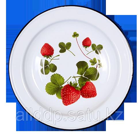 Блюдо 5 л декор на дне Клубника садовая С0812.д*59