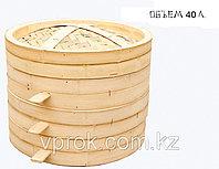 Китайская пароварка для мантов, бамбуковая, 40 л.