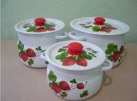 Набор 11 белый с деколью на кр.Летняя ягода N11В56