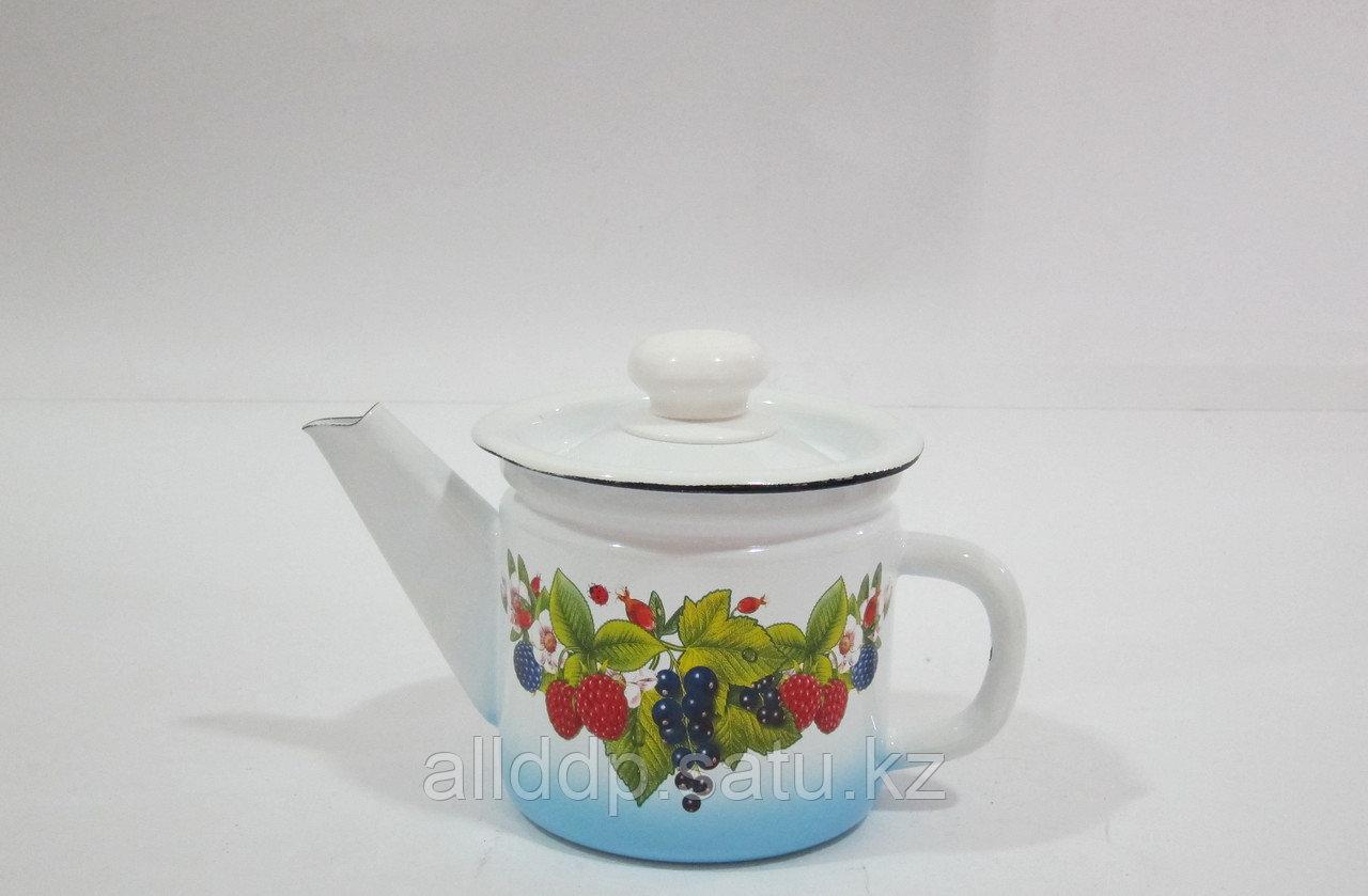 Чайник заварной 1 л декор стонированием пластм.кнопкой С2707.13
