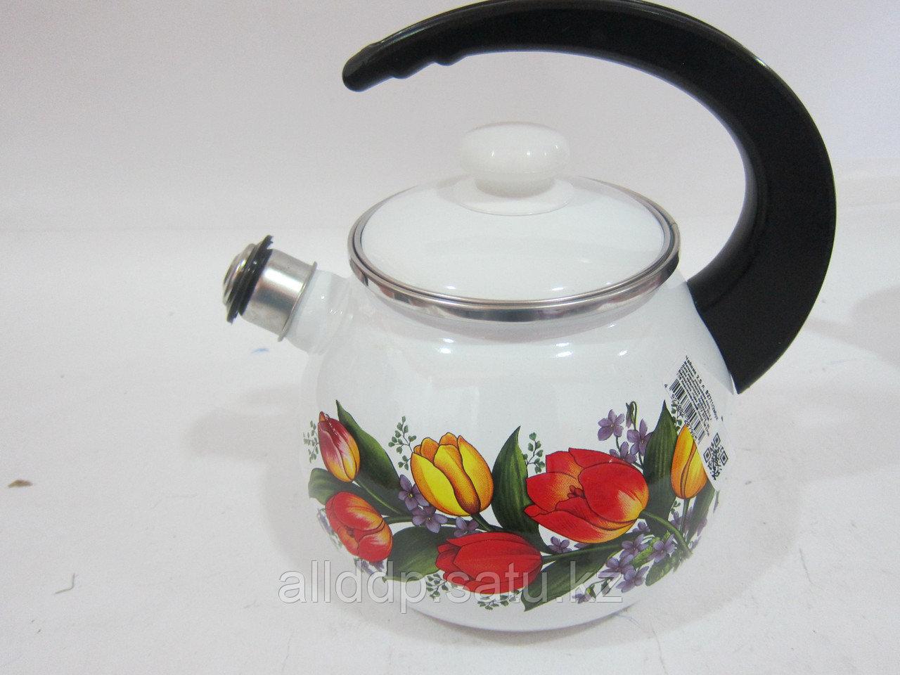 """Чайник с крышкой """"Весенний букет"""" 2,5л В2711/2вбук"""