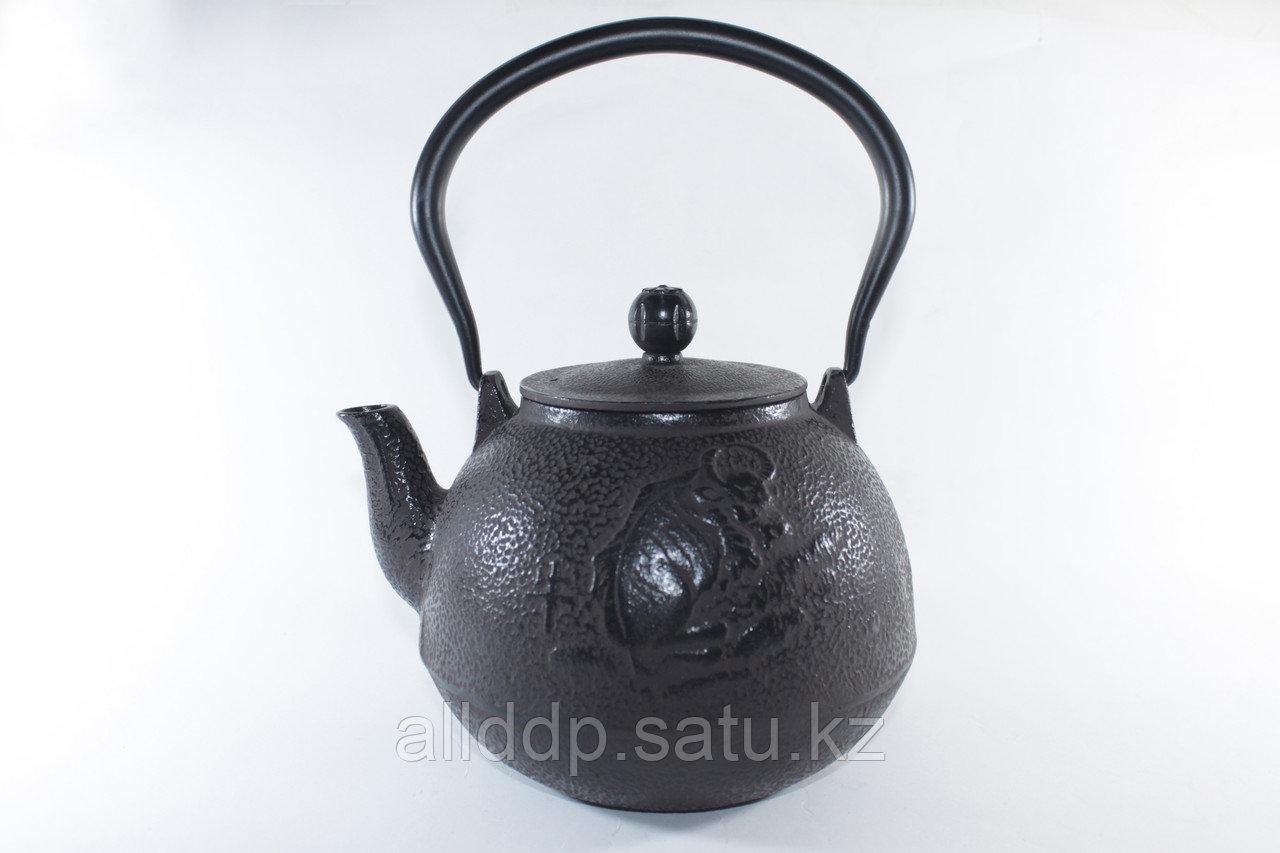 Чайник чугунный, круглый