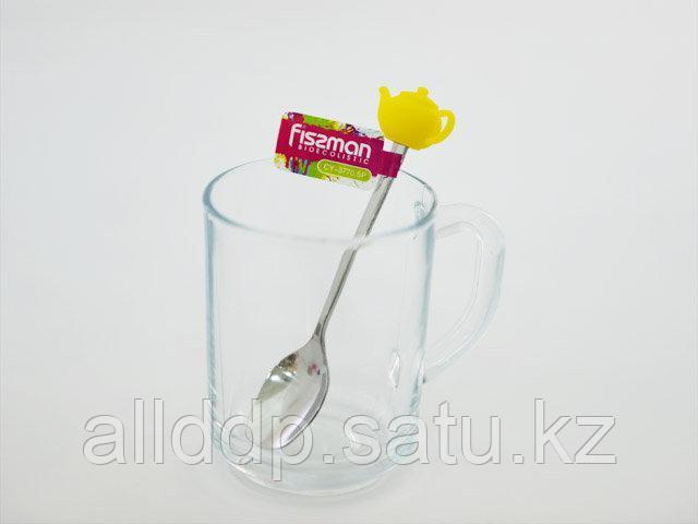 3770 FISSMAN Чайная ложечка с силиконовой фигуркой ЧАЙНИК (нерж. сталь)
