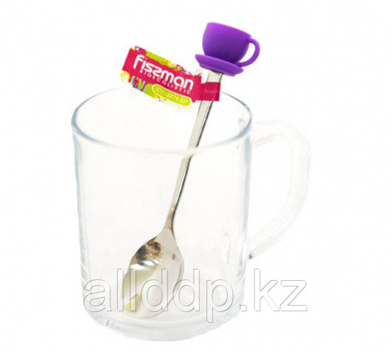3771 FISSMAN Чайная ложечка с силиконовой фигуркой ЧАШКА (нерж. сталь)