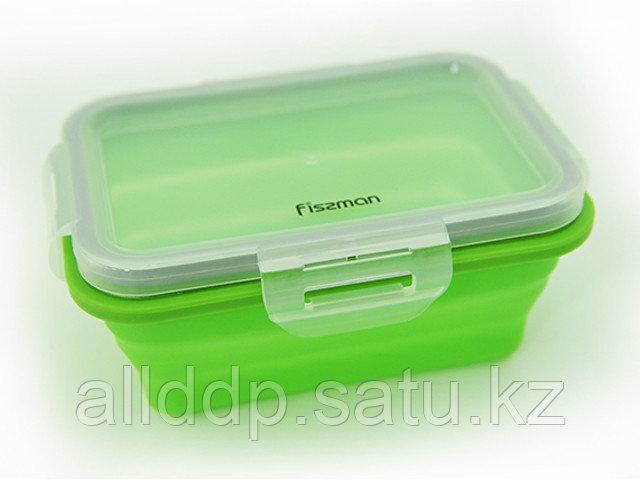 7489 FISSMAN Складной прямоугольный контейнер для хранения продуктов 15x11x6 см / 410 мл (силикон, пластик)