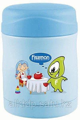 7903 FISSMAN Термос-контейнер для пищи 350 мл голубой (нерж. сталь)