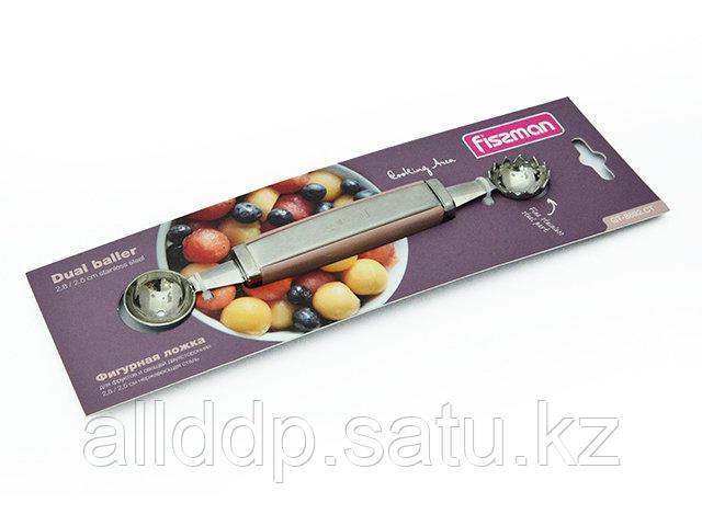 8692 FISSMAN Фигурная ложка для фруктов и овощей двухсторонняя 2,8 / 2,5 см (нерж. сталь)