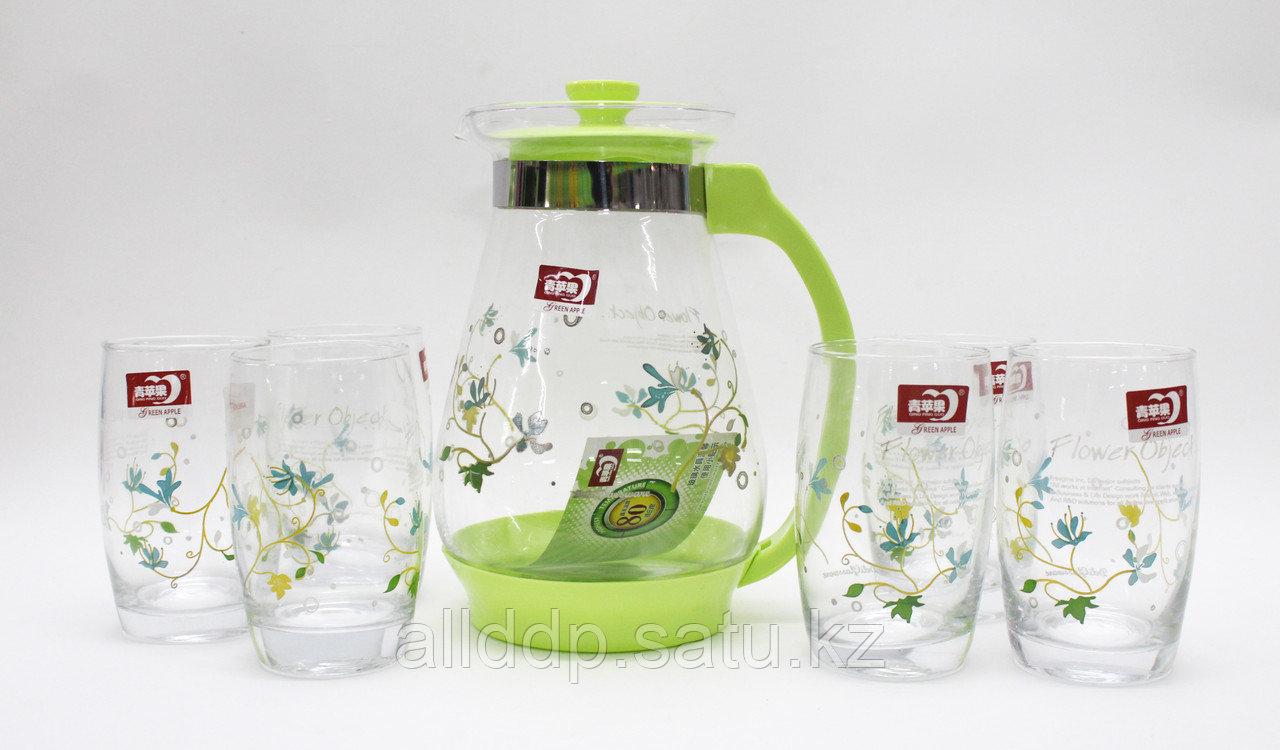 "Кувшин со стаканами, ""Flower Object"", (6 стаканов)"