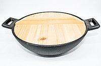 Сковорода садж, деревянная крышка, D 20 см