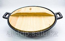 Сковорода садж, деревянная крышка, D 29 см