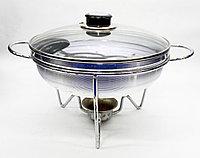 Сковорода садж, стеклянная крышка, D 24 см