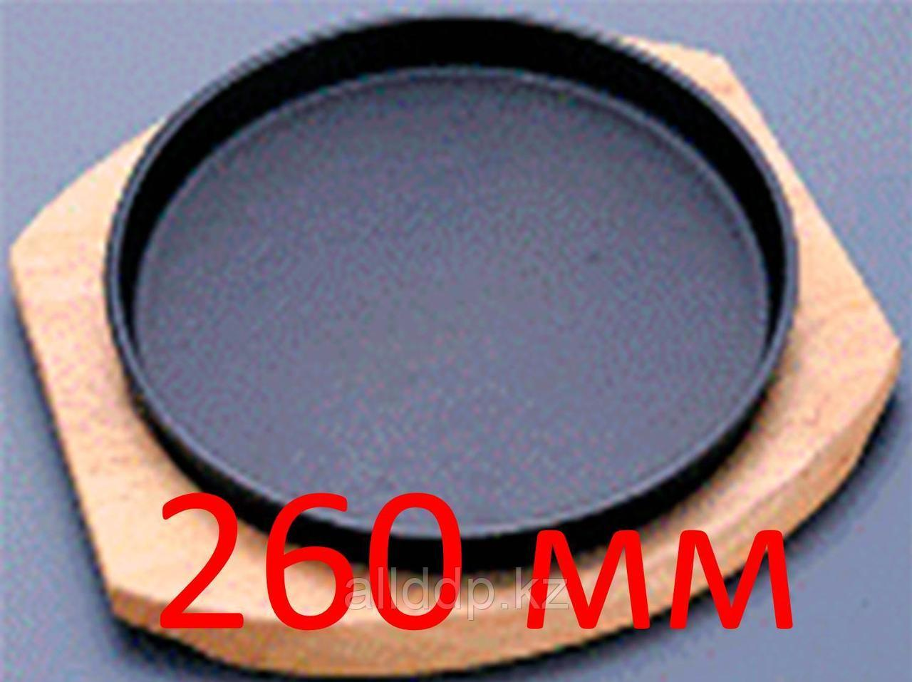 Сковорода-жаровня, круглая, на деревянной подставке, 260 мм