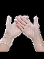 Перчатки виниловые неопудренные упаковка 100 шт, размер M