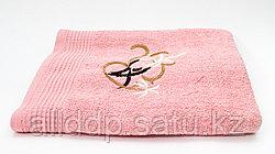 Полотенце банное, махровое, розовое, 135*62 см