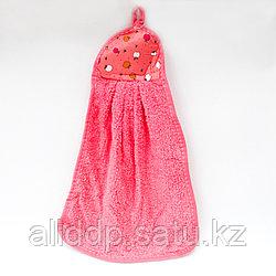 Полотенце кухонное, махровое, розовое, 40*27 см