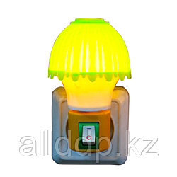"LED ночник в розетку ""Лампа"", желто-зеленый"