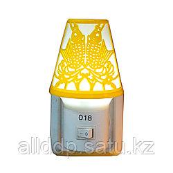"""LED ночник в розетку """"Лампа"""", желтый"""