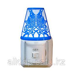 """LED ночник в розетку """"Лампа"""", синий"""