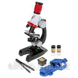 Микроскоп детский с держателем для телефона 1200x