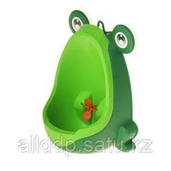 """Писсуар детский «Лягушка» с """"прицелом"""", цвет зелёный"""