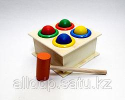 """Деревянная игрушка """"Стучалка шарики"""""""