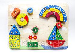 """Кубики-конструктор для малышей """"Лодка"""", 30*24 см"""