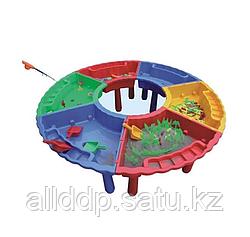 Игровой стол-песочница пластиковый, сегментный, Китай