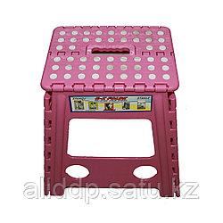 Мультистул - складной табурет-подставка, 28*27 см, розовый
