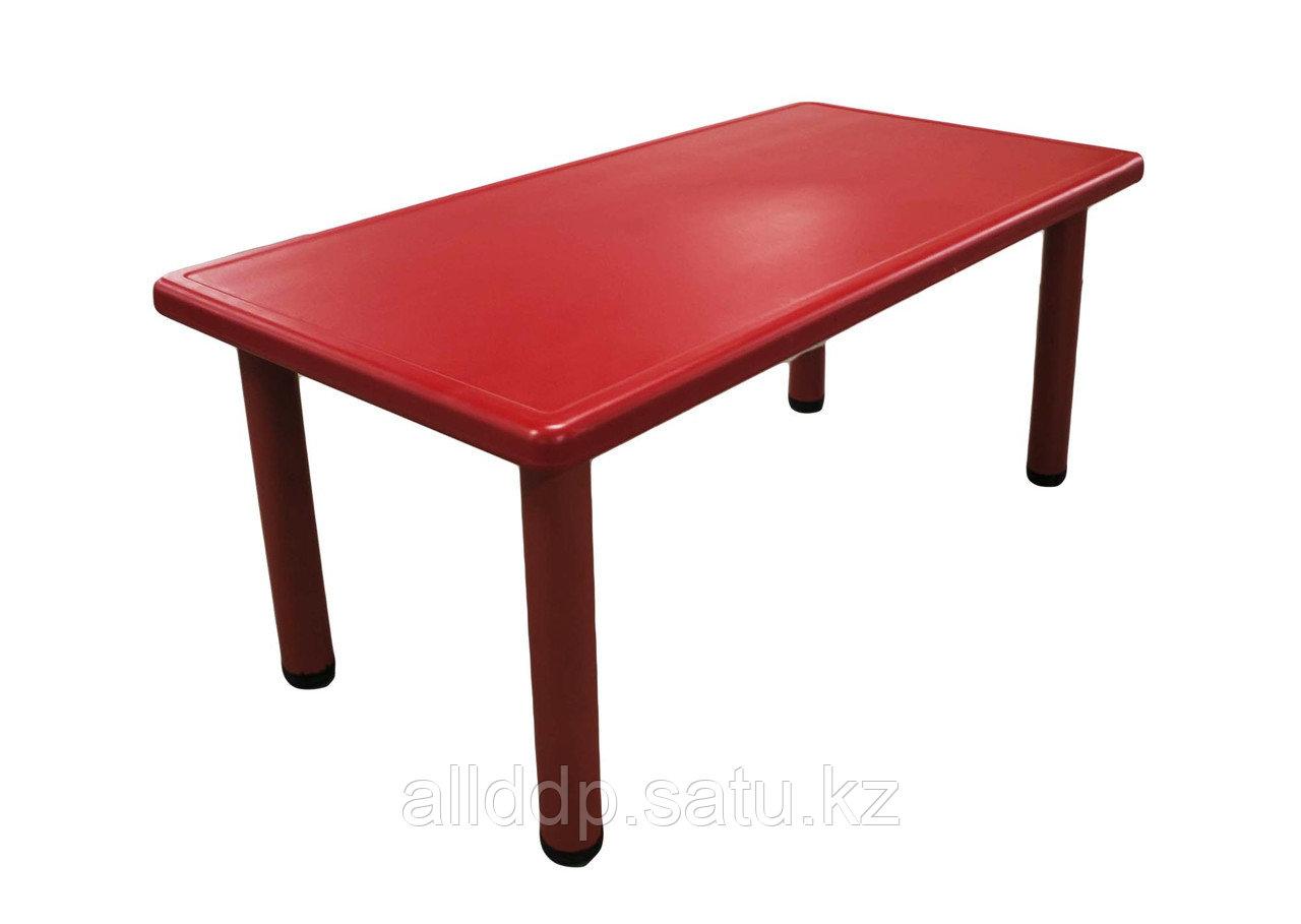 Столик пластиковый, красный, 120*60*51 см