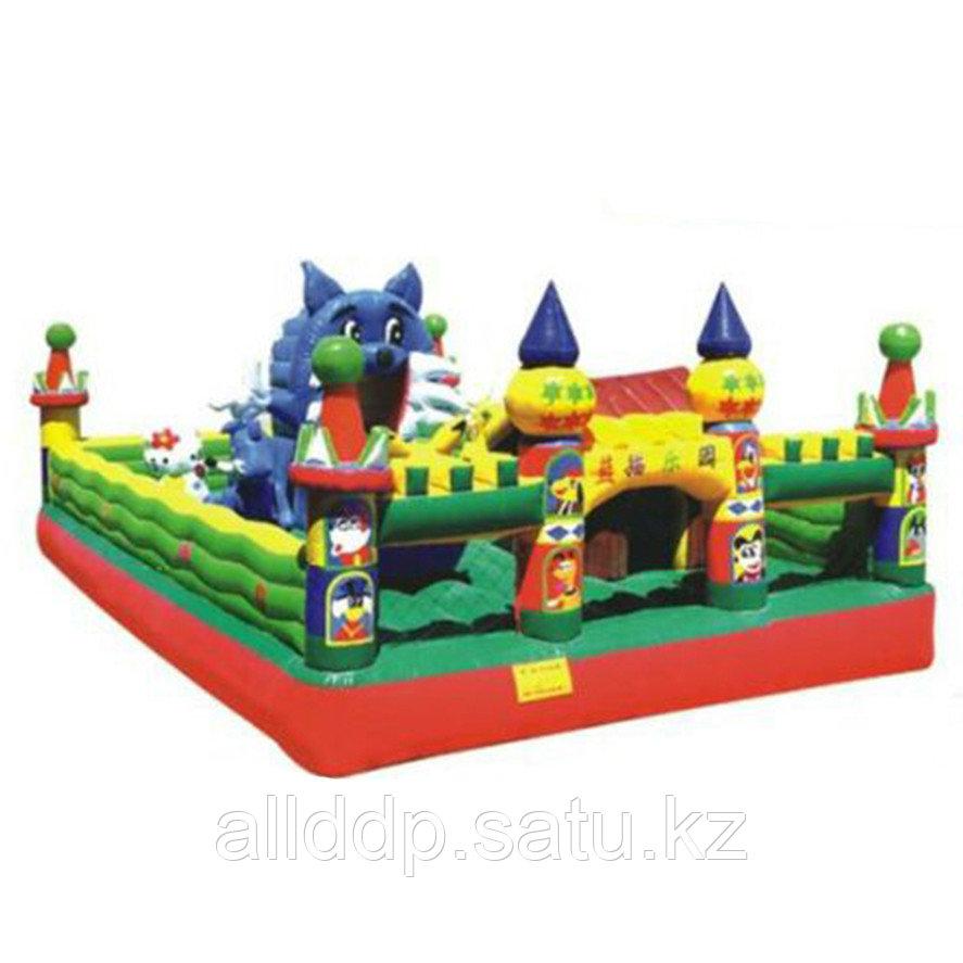 """Уличный надувной батут """"Замок Голубого Кота"""" H-4301, 8*5*2.9 м"""