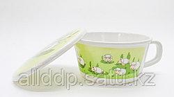 Детская пластиковая супница, с крышкой