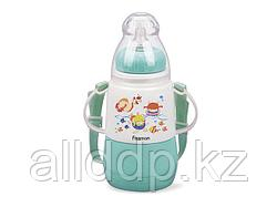 7954 FISSMAN Термобутылочка для кормления с соской 150 мл МЕНТОЛОВАЯ с двойными стенками (пластик)