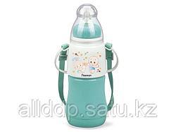 7958 FISSMAN Термобутылочка для кормления с соской 230 мл МЕНТОЛОВАЯ с двойными стенками (пластик)