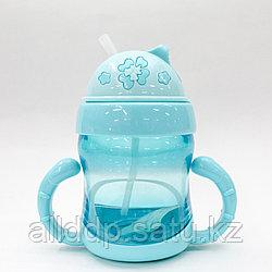 Детская питьевая бутылочка, голубая