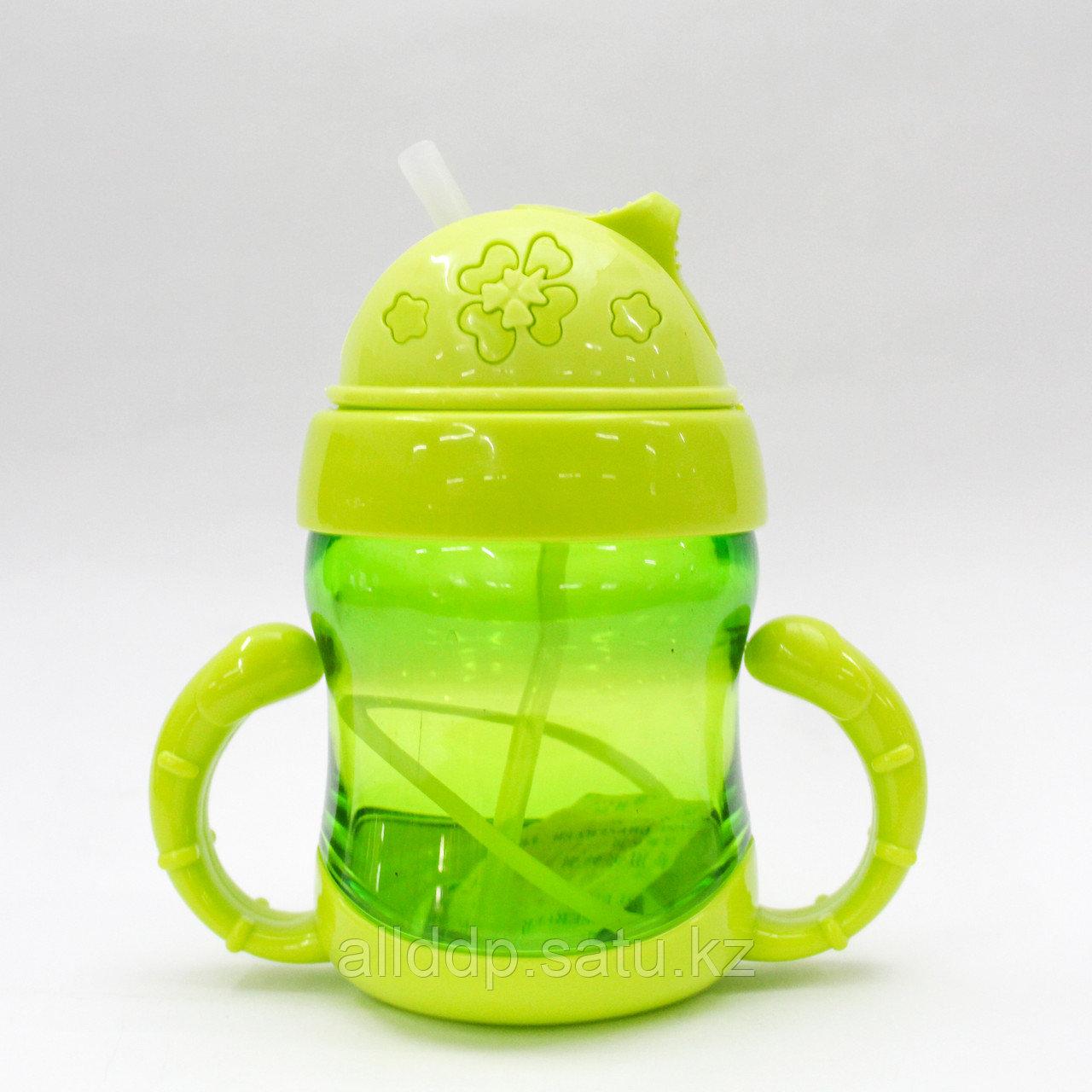 Детская питьевая бутылочка, зеленая