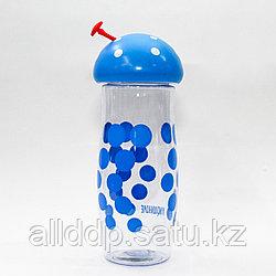 """Эко бутылка для воды """"Грибочек"""", 0,4 л, синяя"""