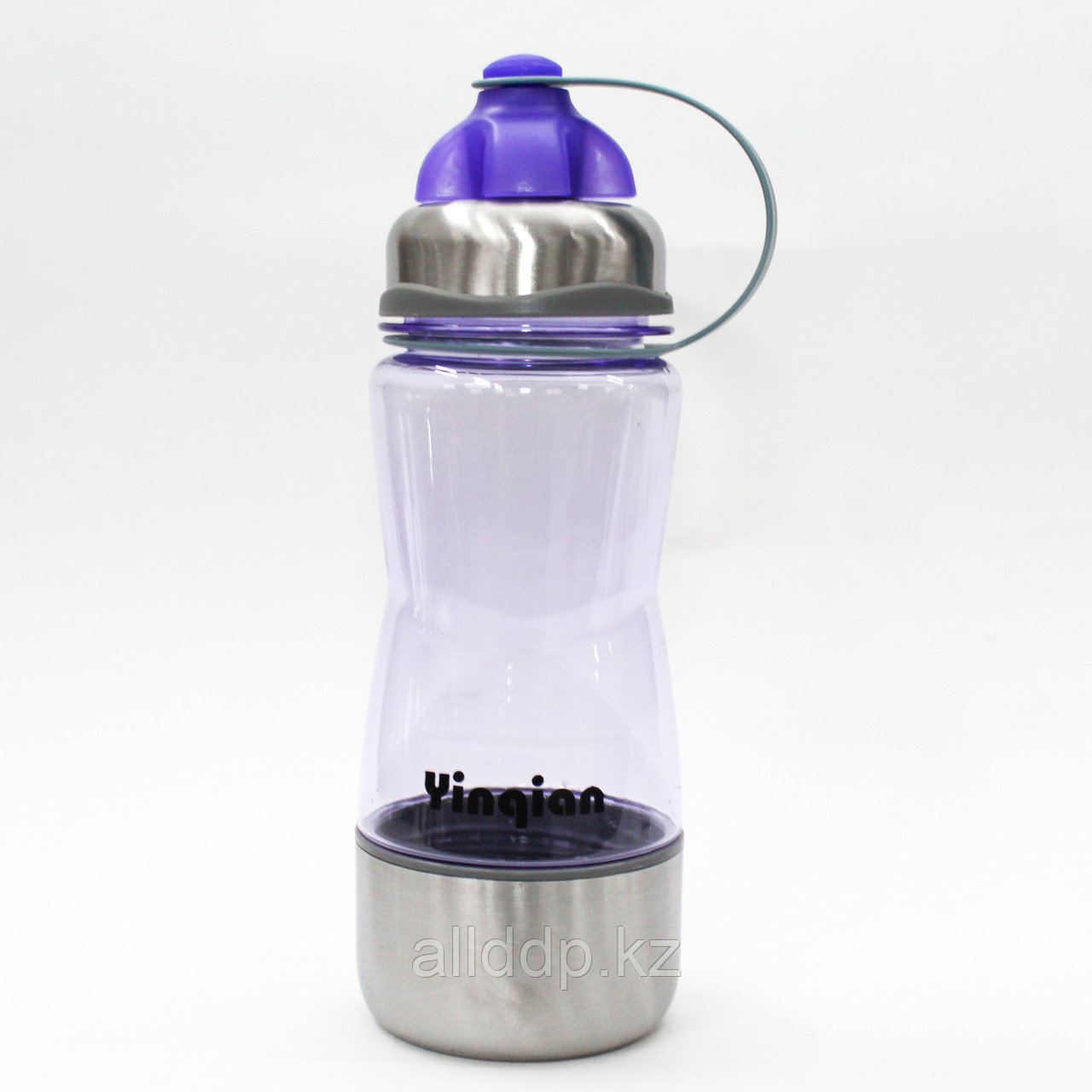 Эко бутылка для воды с поилкой, стаканом, 0,5 л, голубая