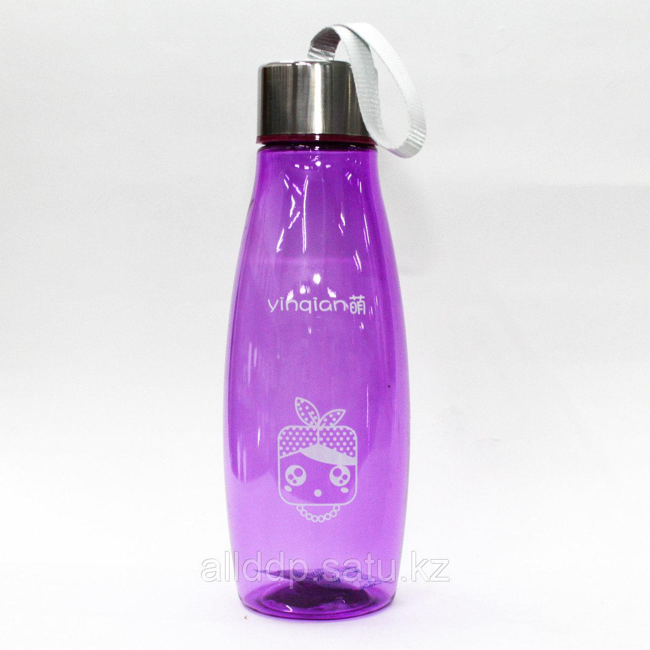 Эко бутылка для воды, 0,5 л, сиреневая