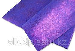 Упаковочная бумага, двусторонний блеск, фиолетовая