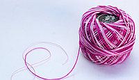 """Нитки для вязания """"Ирис"""", бело-розовые"""